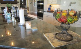 Samples of granite countertops